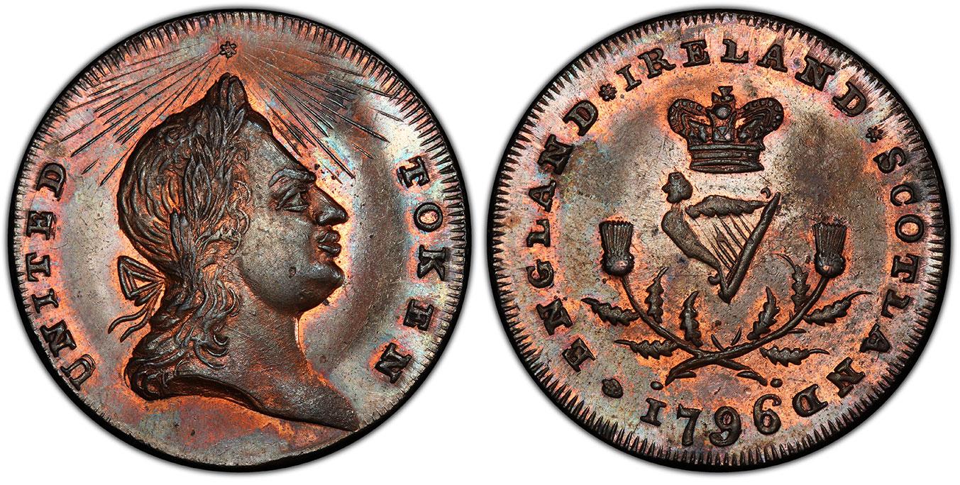 GR BRITAIN Midx, Spence's. 1796 CU Halfpenny Tkn. PCGS MS65BN D&H 899.